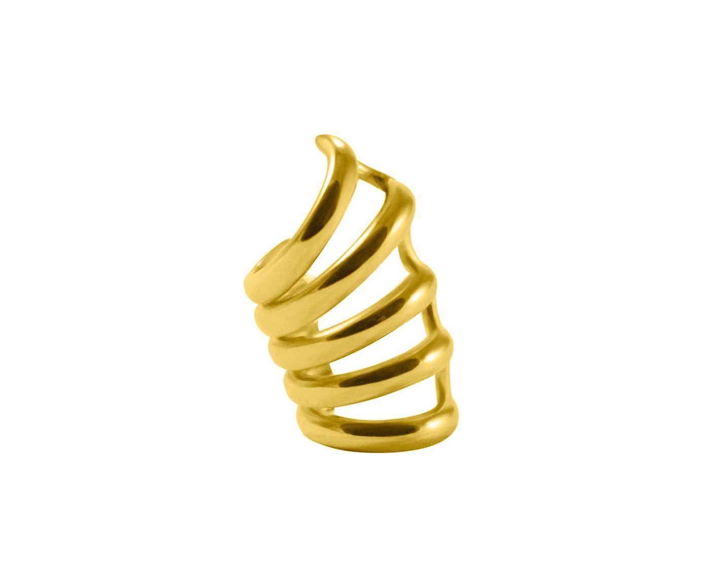 Brinco Piercing Fake Tubular Gold   Westwing.com.br