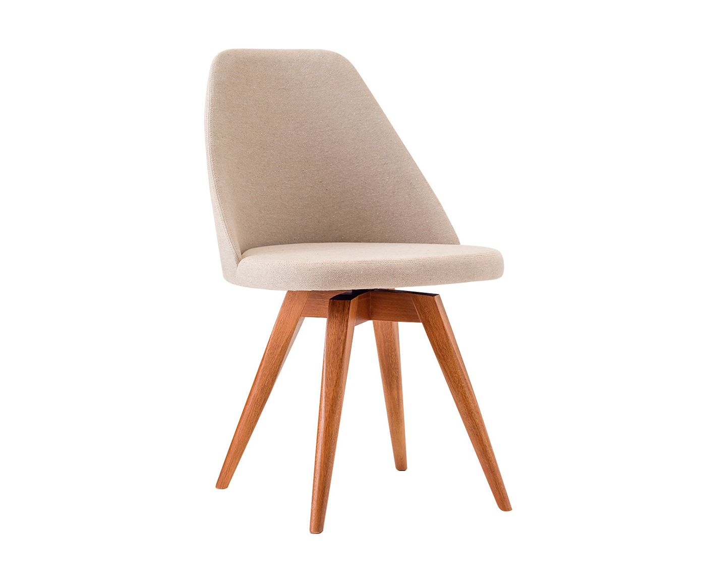 Cadeira Fixa Lucy Bege Médio - 53X86X55cm | Westwing.com.br