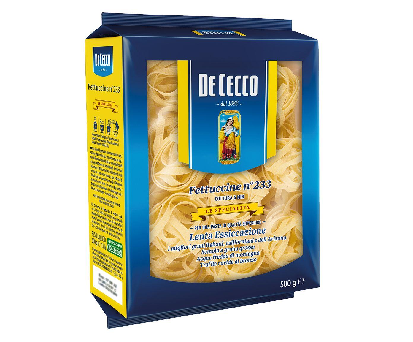 Macarrão Italiano de Cecco Fettuccine Nidi Di Semola - 500G | Westwing.com.br