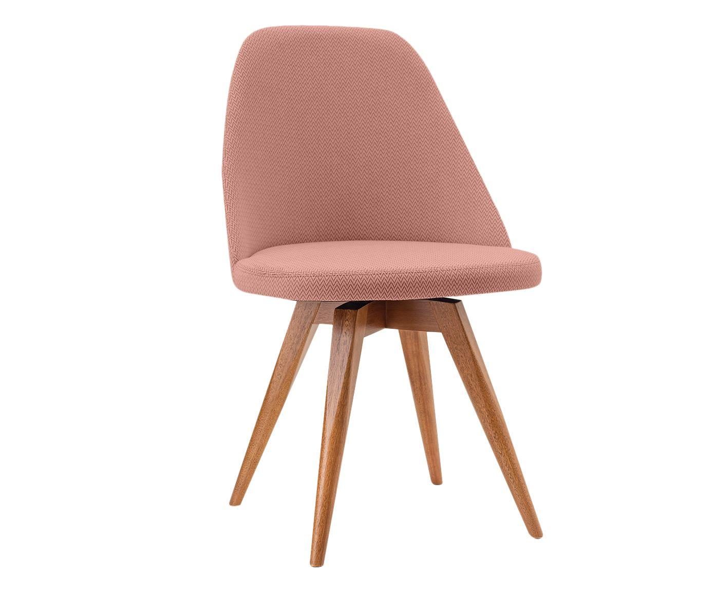 Cadeira Fixa em Linho Lucy Salmão - 55X86X53cm | Westwing.com.br