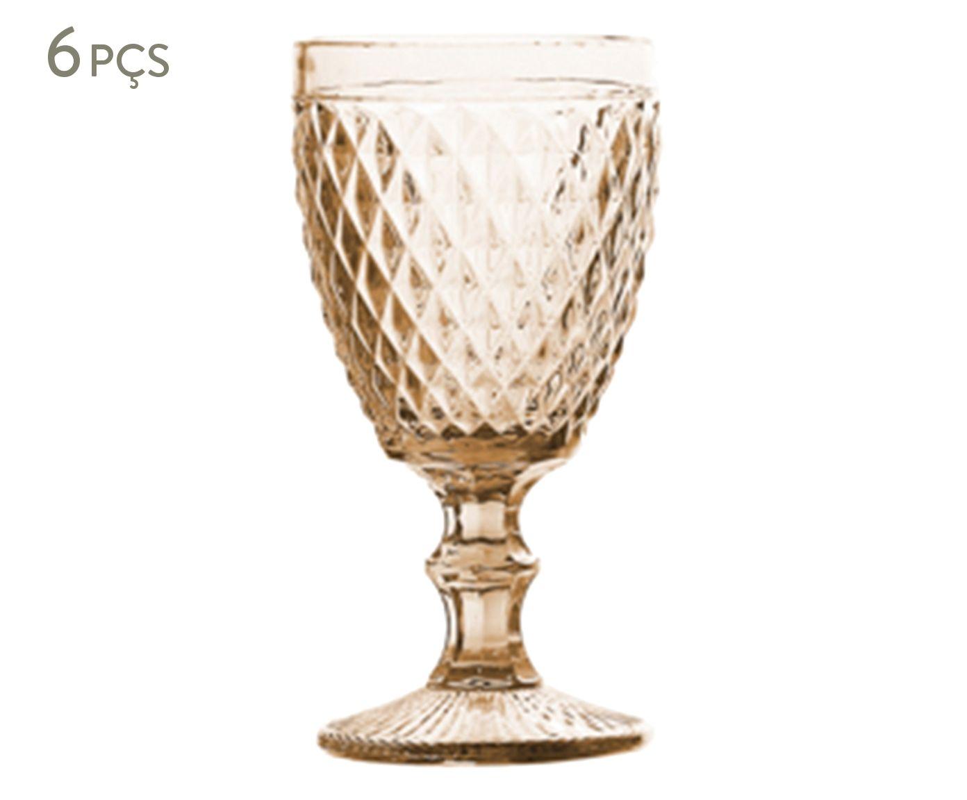 Jogo de Taças para Água em Porcelana Bico de Abacaxi Âmbar - 260ml | Westwing.com.br