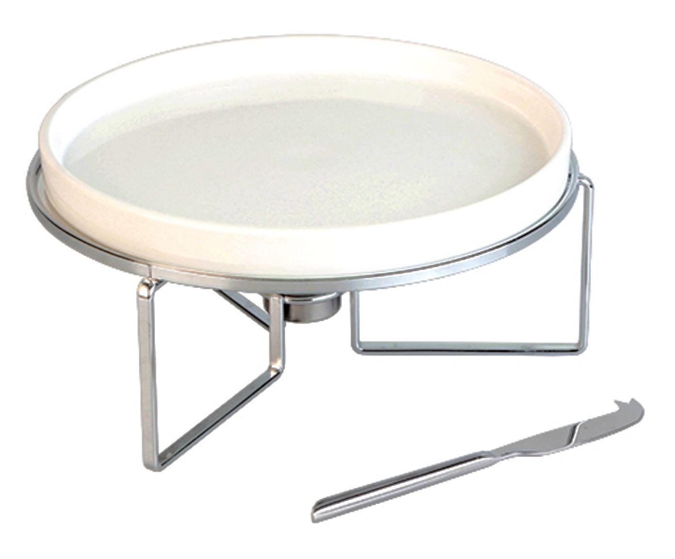 Rechaud em Porcelana Brie Prateado - 29X11,8cm   Westwing.com.br