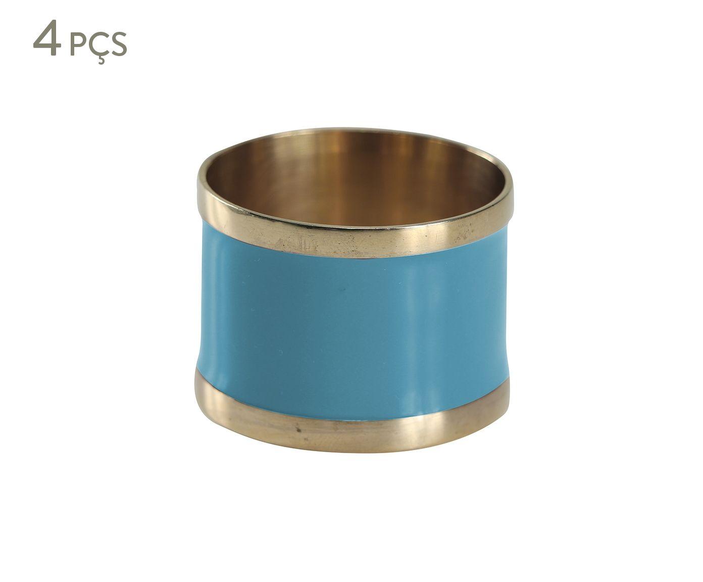 Jogo de Anéis para Guardanapo Laca Azul Claro - 5cm | Westwing.com.br