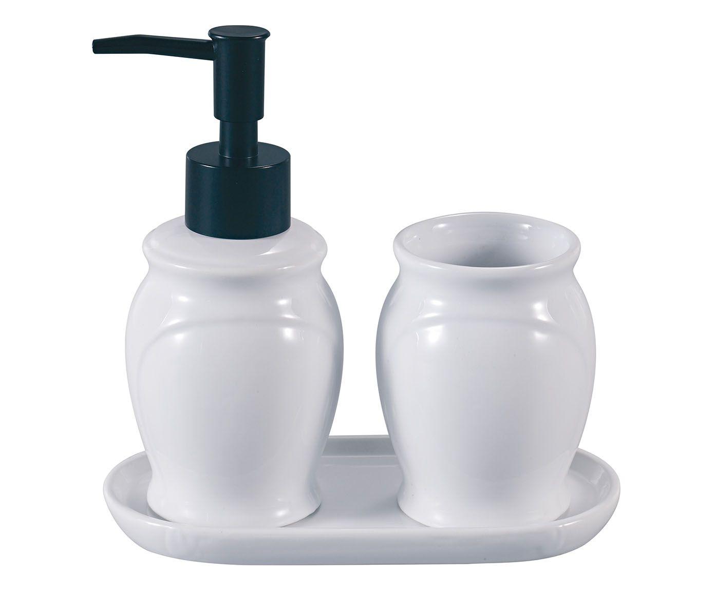 Jogo para Banheiro Paris Branco e Preto | Westwing.com.br