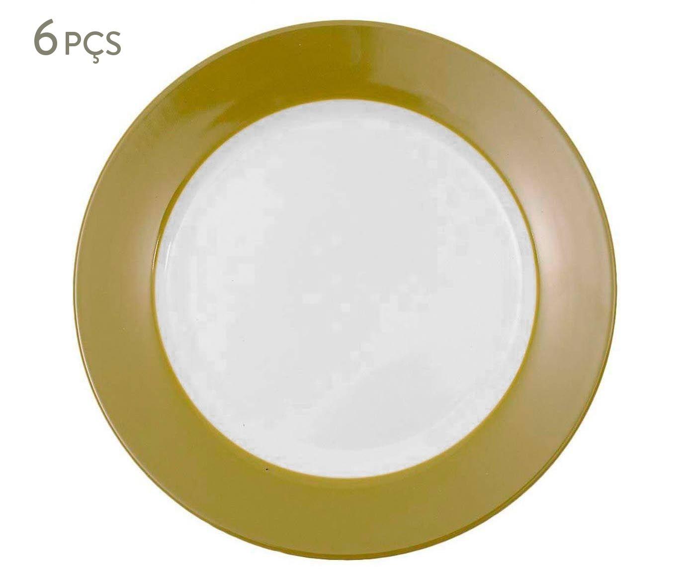 Conjunto de pratos rasos slim verde musgo r&b - 27cm | Westwing.com.br