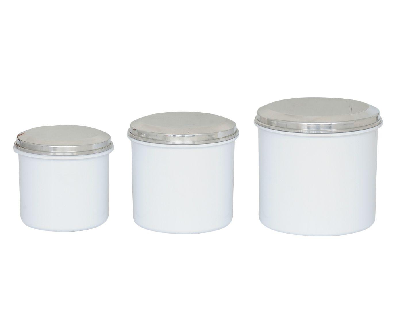 Jogo de Potes Multiúso Slim Branco - 03 Peças | Westwing.com.br