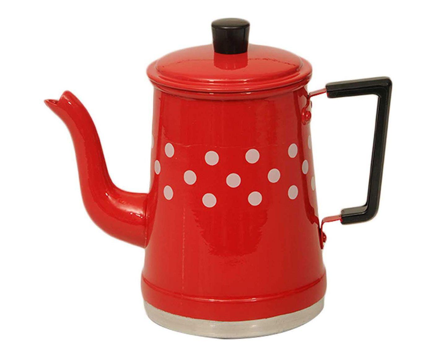 Bule Polka Dots Vermelho e Branco - 1L | Westwing.com.br