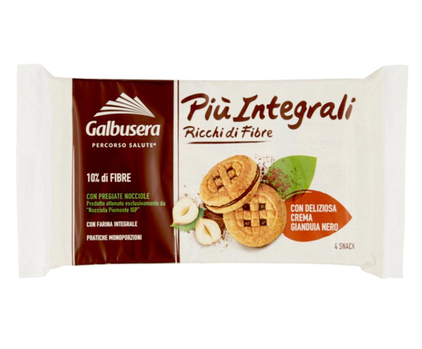 Biscoito Integral com Creme de Gianduia Piu Integrali - 160G | Westwing.com.br
