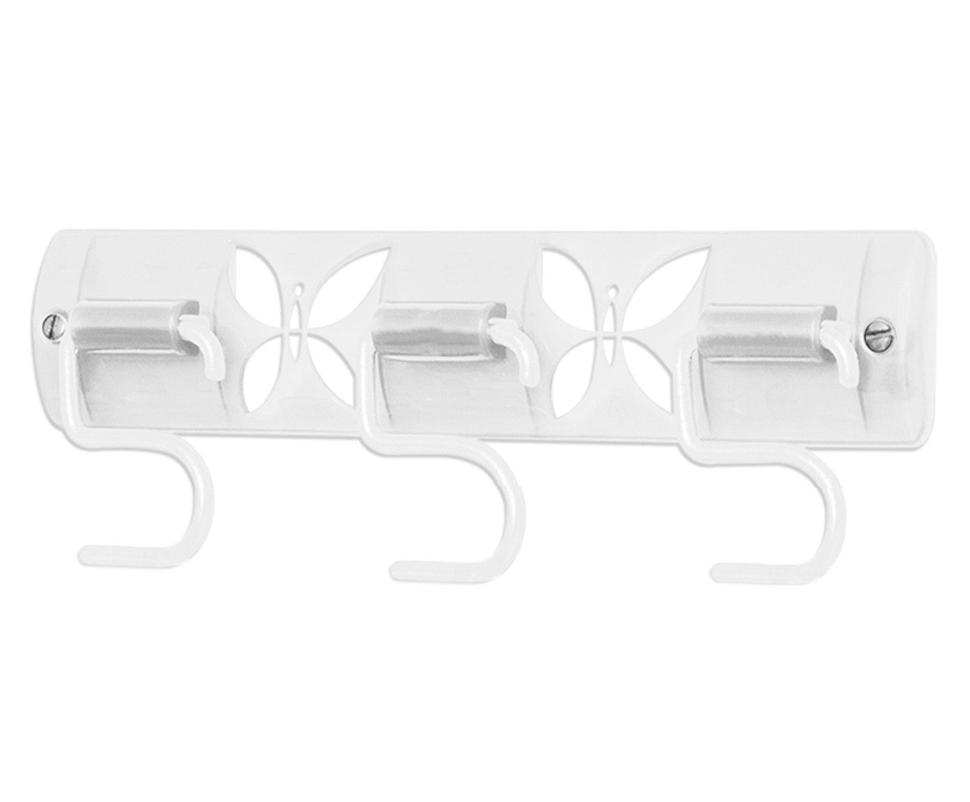 Porta-Vassouras Borboletas Branca - 25X9,5X2,5cm | Westwing.com.br