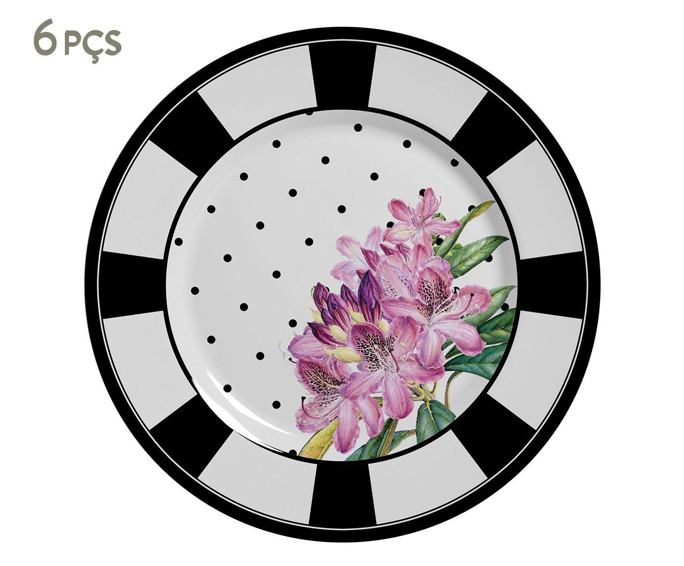 Jogo de Pratos para Sobremesa Azalea - 19,5X1,8cm | Westwing.com.br