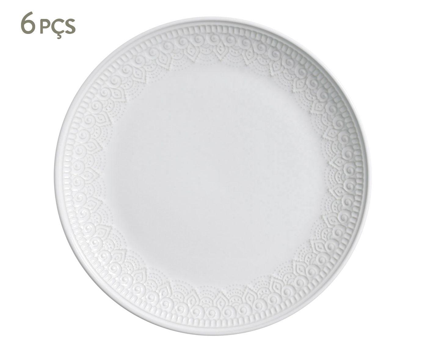 Jogo de Pratos Rasos Agra Branco - 27cm | Westwing.com.br