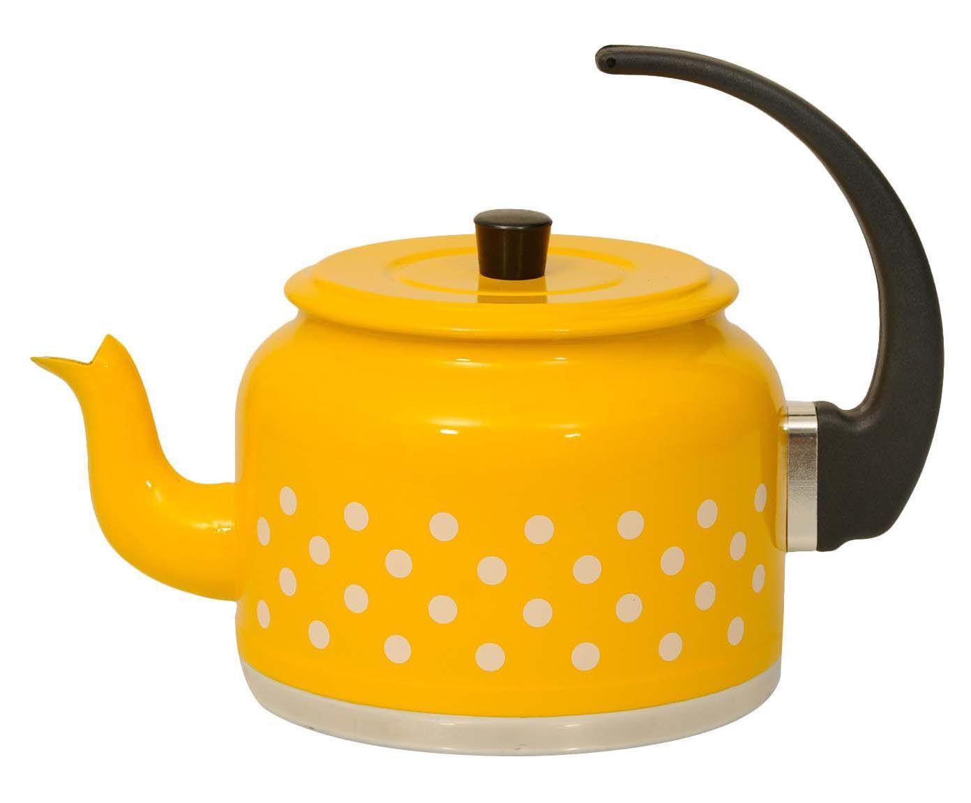Chaleira Polka Dots Amarela e Branca - 1,5L | Westwing.com.br