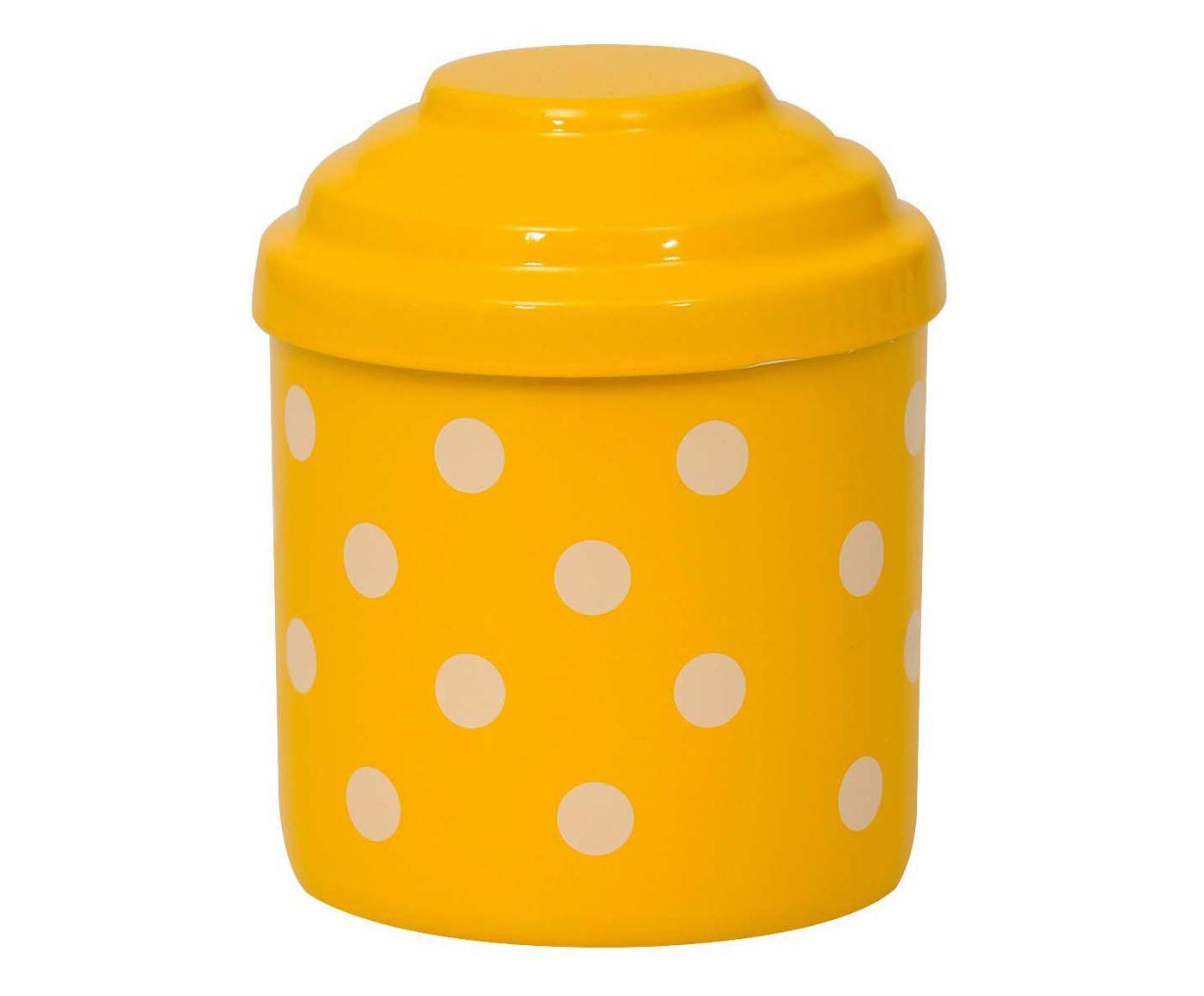 Porta-Condimentos Polka Dots - Amarelo e Branco | Westwing.com.br