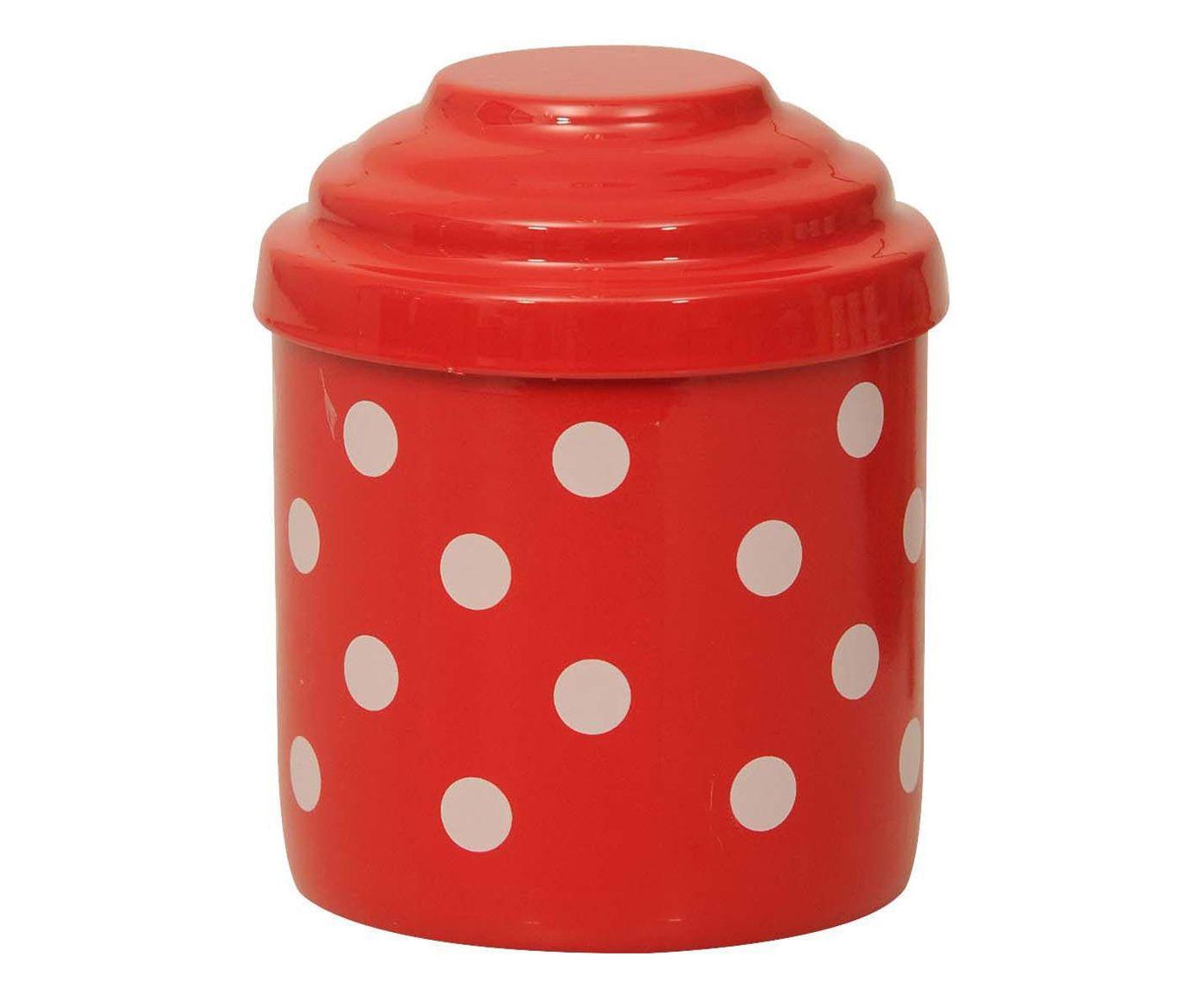 Porta-Condimentos Polka Dots - Vermelho e Branco   Westwing.com.br