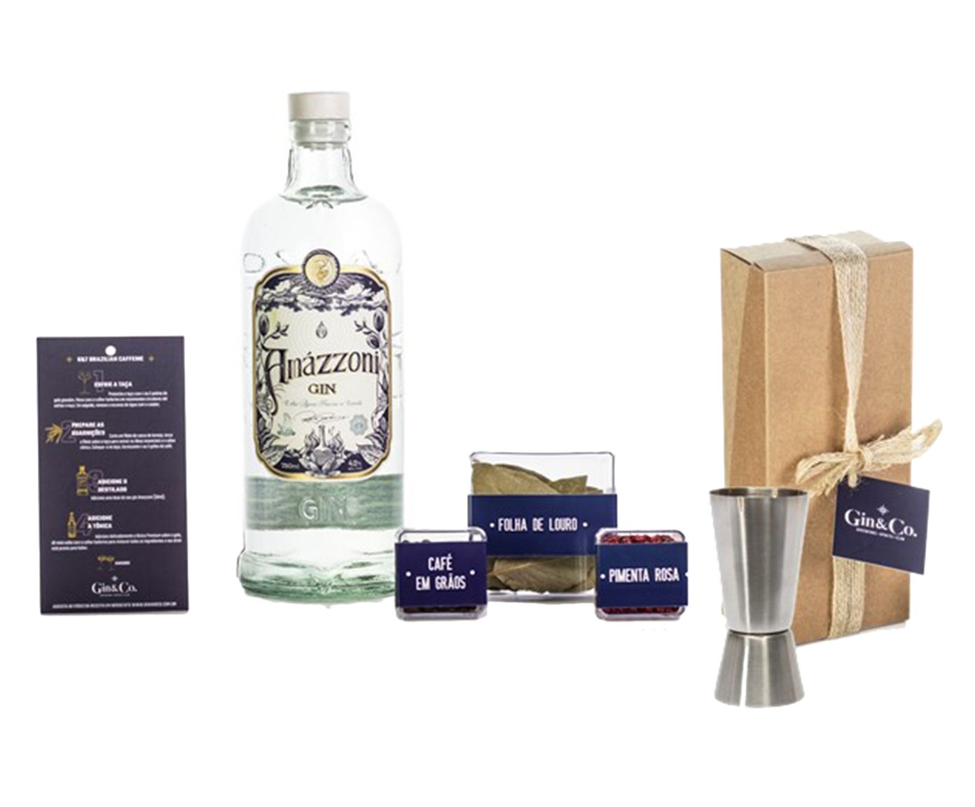 Jogo para Preparo em Inox de Gin Amazzoni Gin | Westwing.com.br