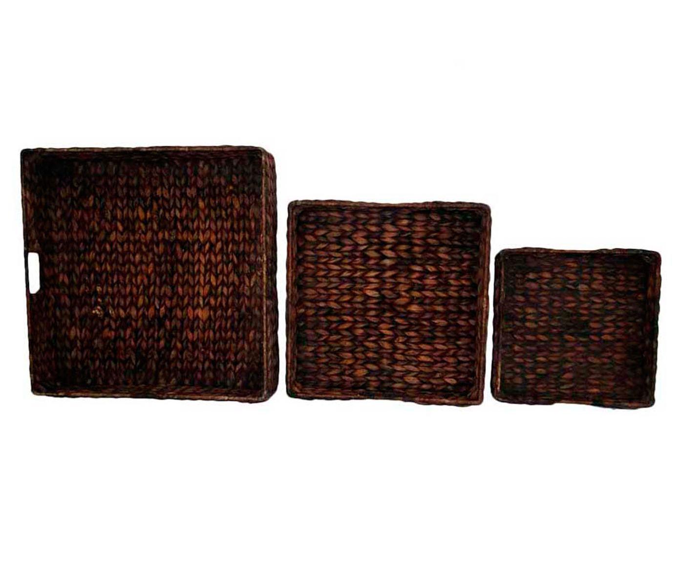 Conjunto de bandejas braided   Westwing.com.br