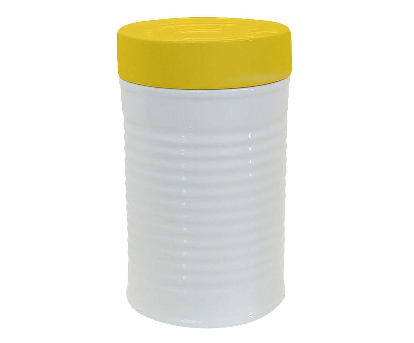 Pote com Tampa Can Branco - 1,3L   Westwing.com.br