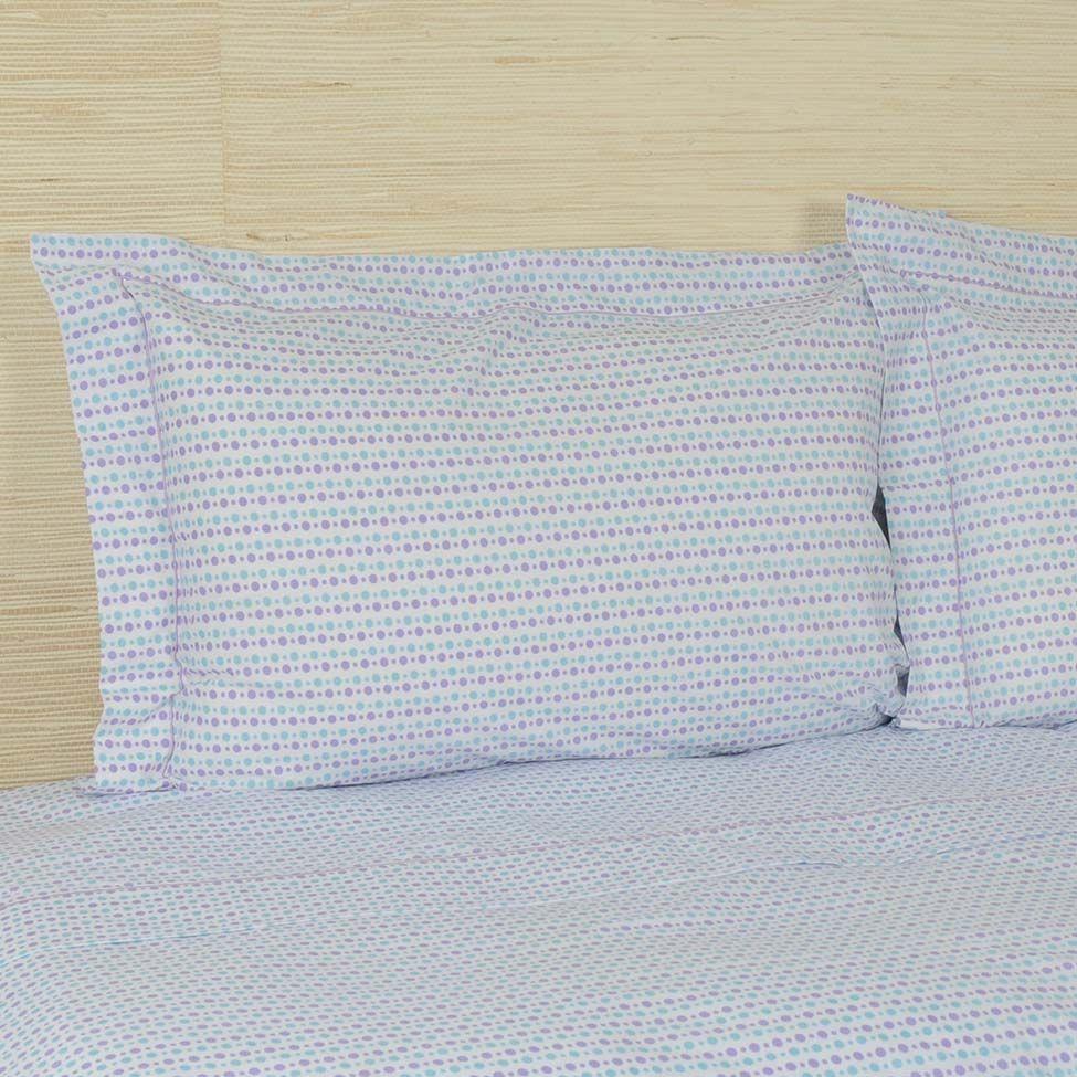 Jogo de lençol versatt poá para cama de casal 150 fios   Westwing.com.br