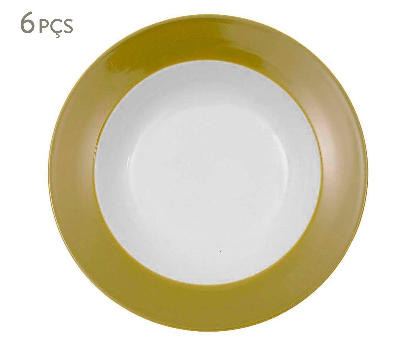 Conjunto de pratos fundos slim verde musgo r&b - 22cm | Westwing.com.br