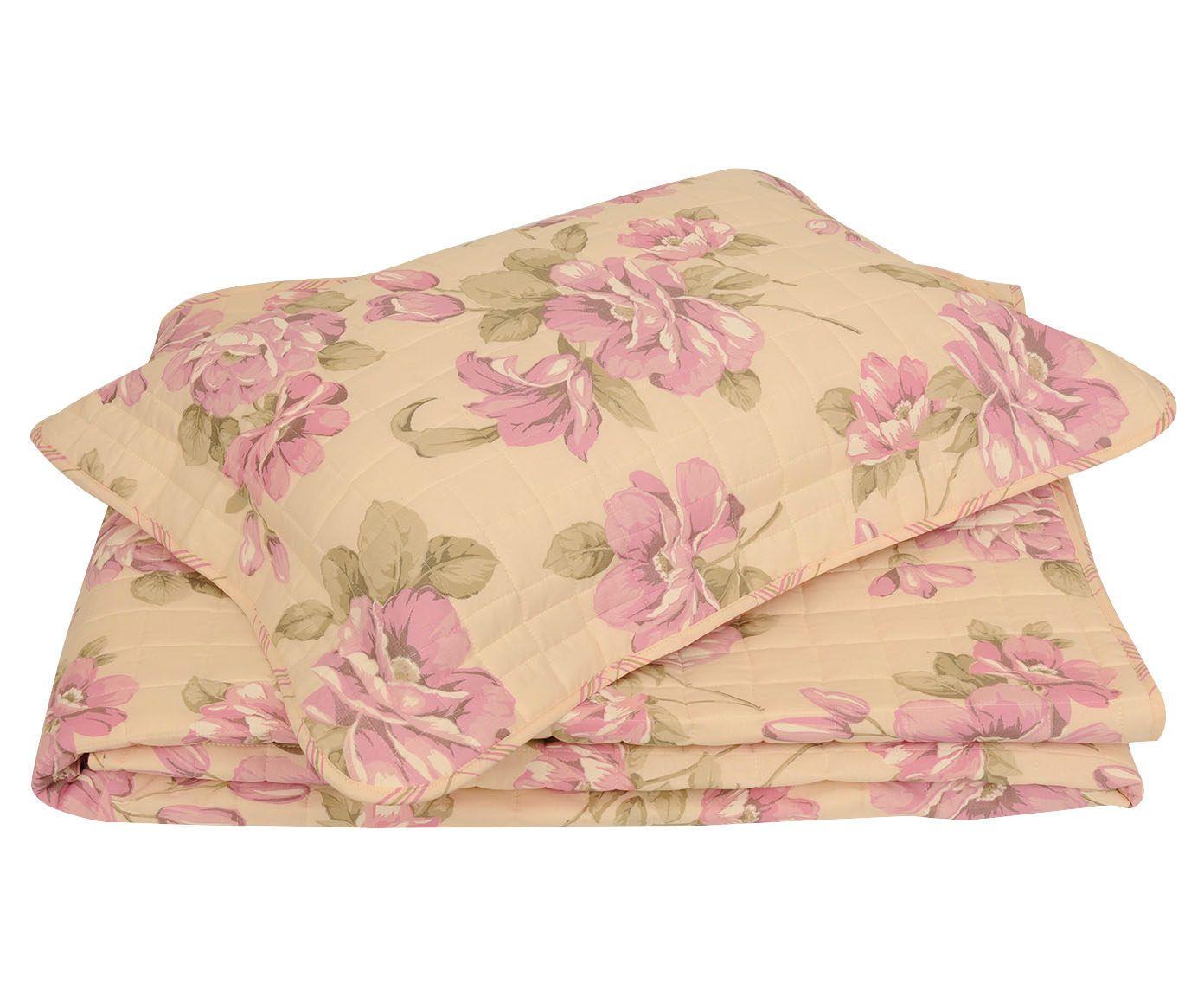 Conjunto de cobre-leito flower para cama de solteiro 150 fios | Westwing.com.br