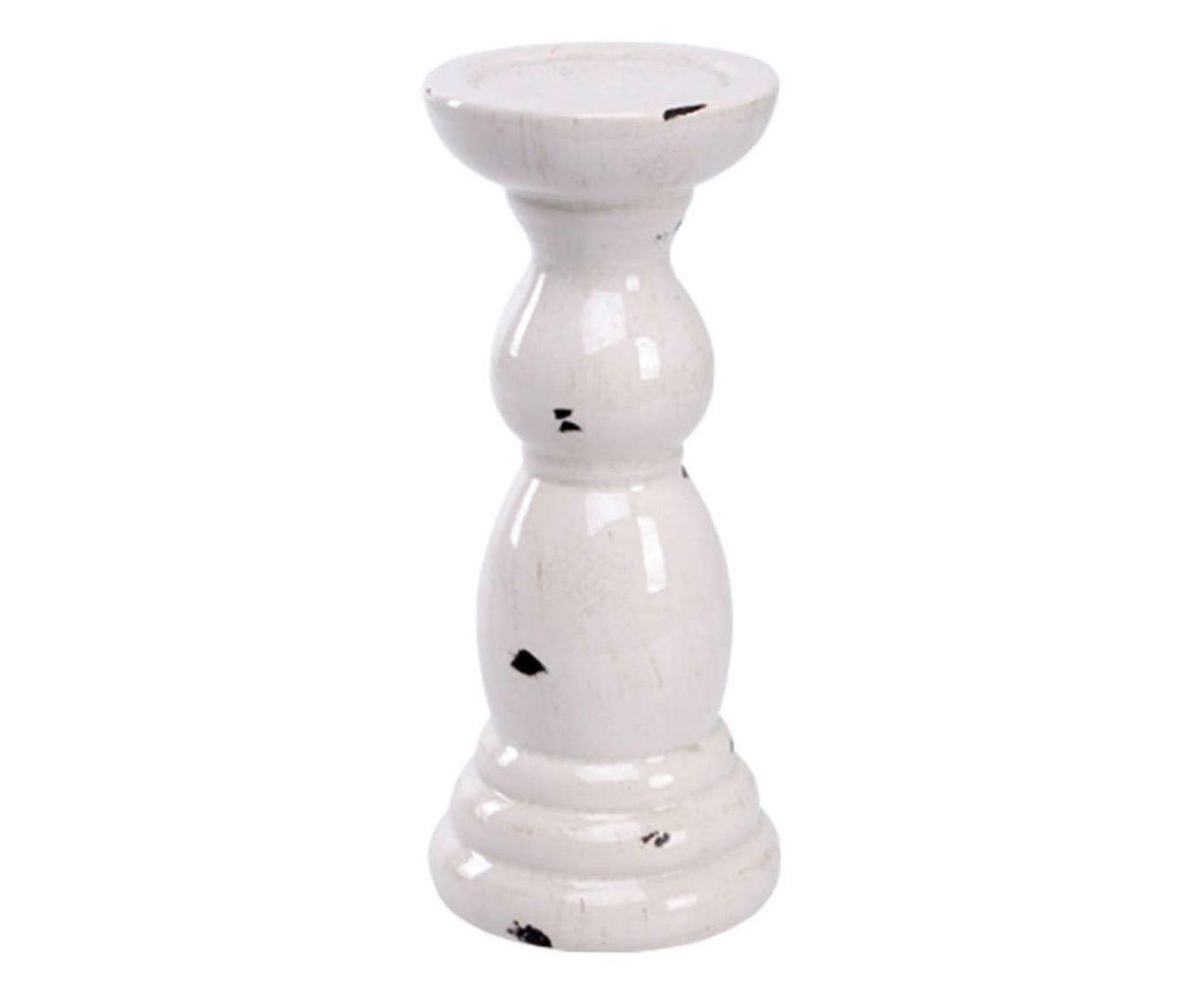 Porta-vela marone hollow - 23x10,5cm | Westwing.com.br