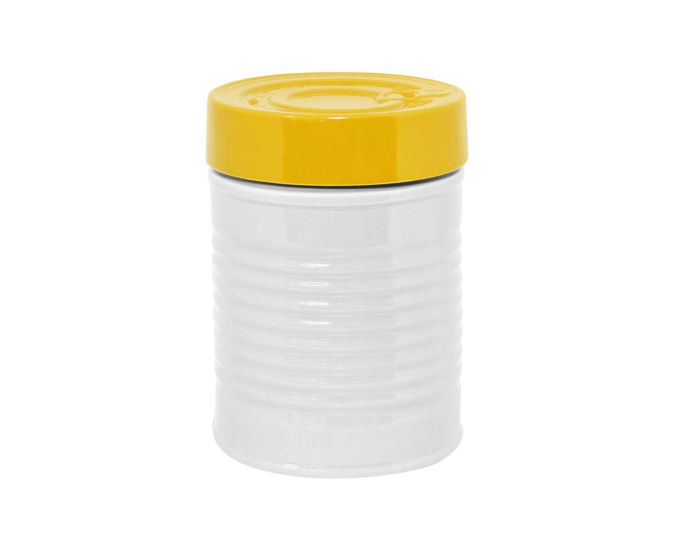 Pote Can Lata Amarelo e Branco - 900ml | Westwing.com.br