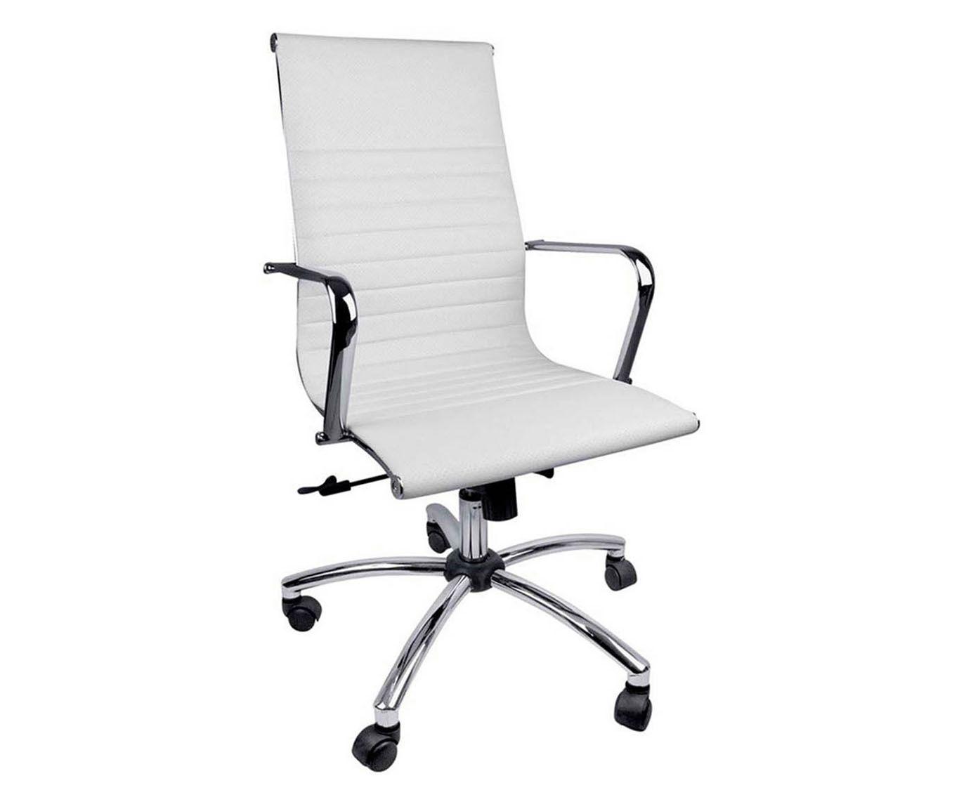 Cadeira com Rodízios Inspector Branca - 112cm | Westwing.com.br