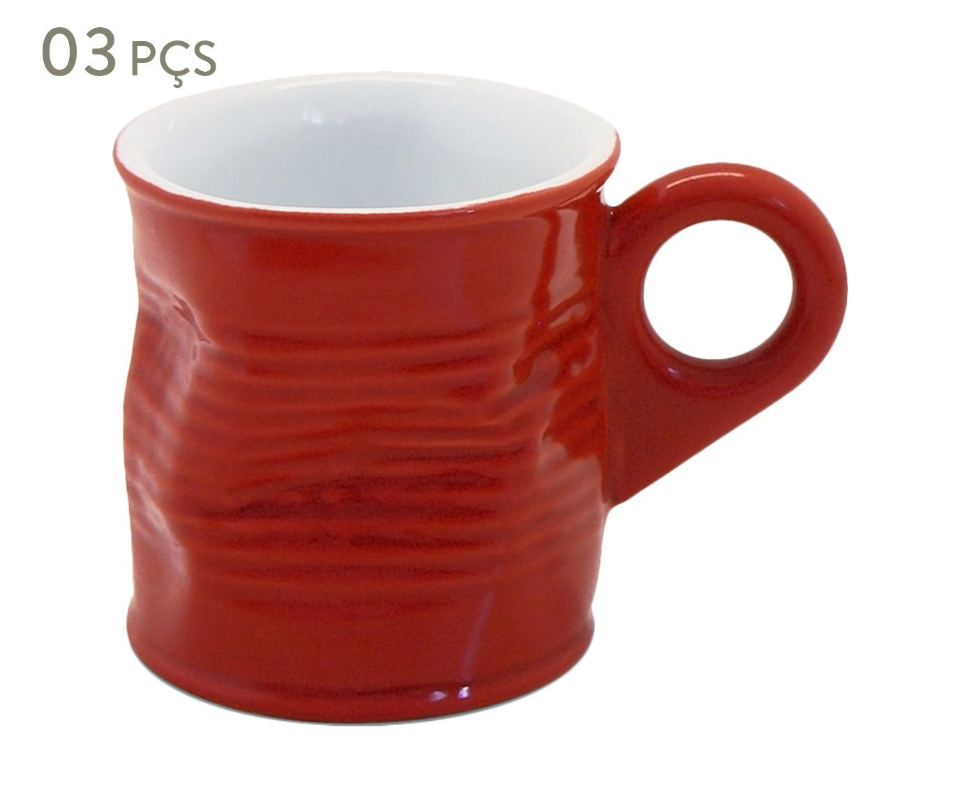 Conjunto de Xícaras para café Smashed - rouge 70 ml   Westwing.com.br