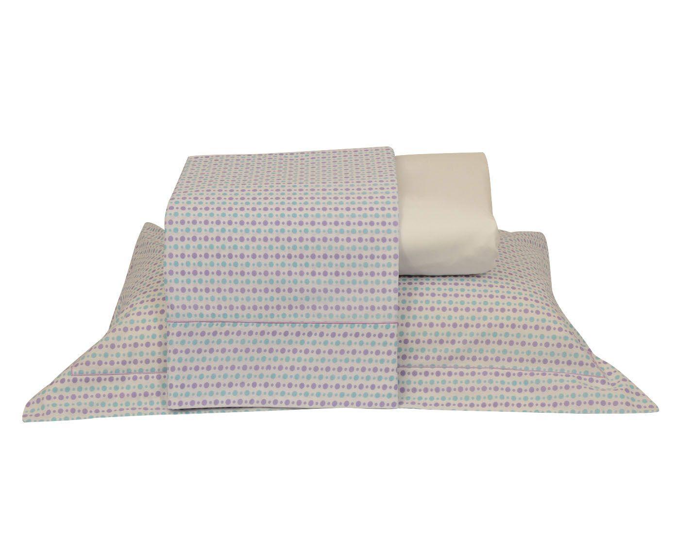 Jogo de lençol versatt poá para cama king size 150 fios | Westwing.com.br
