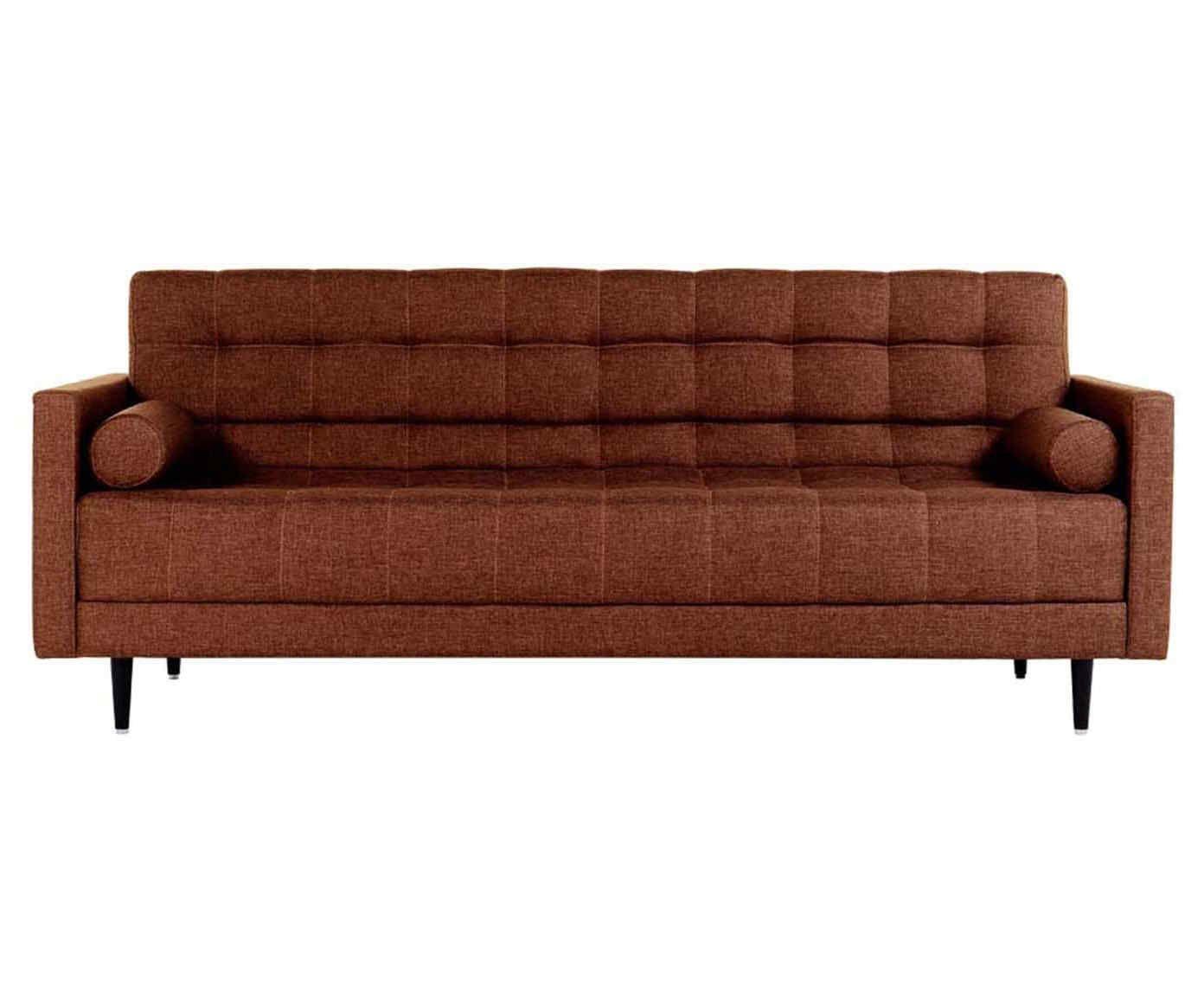 Sofá-cama viena linho - canela | Westwing.com.br