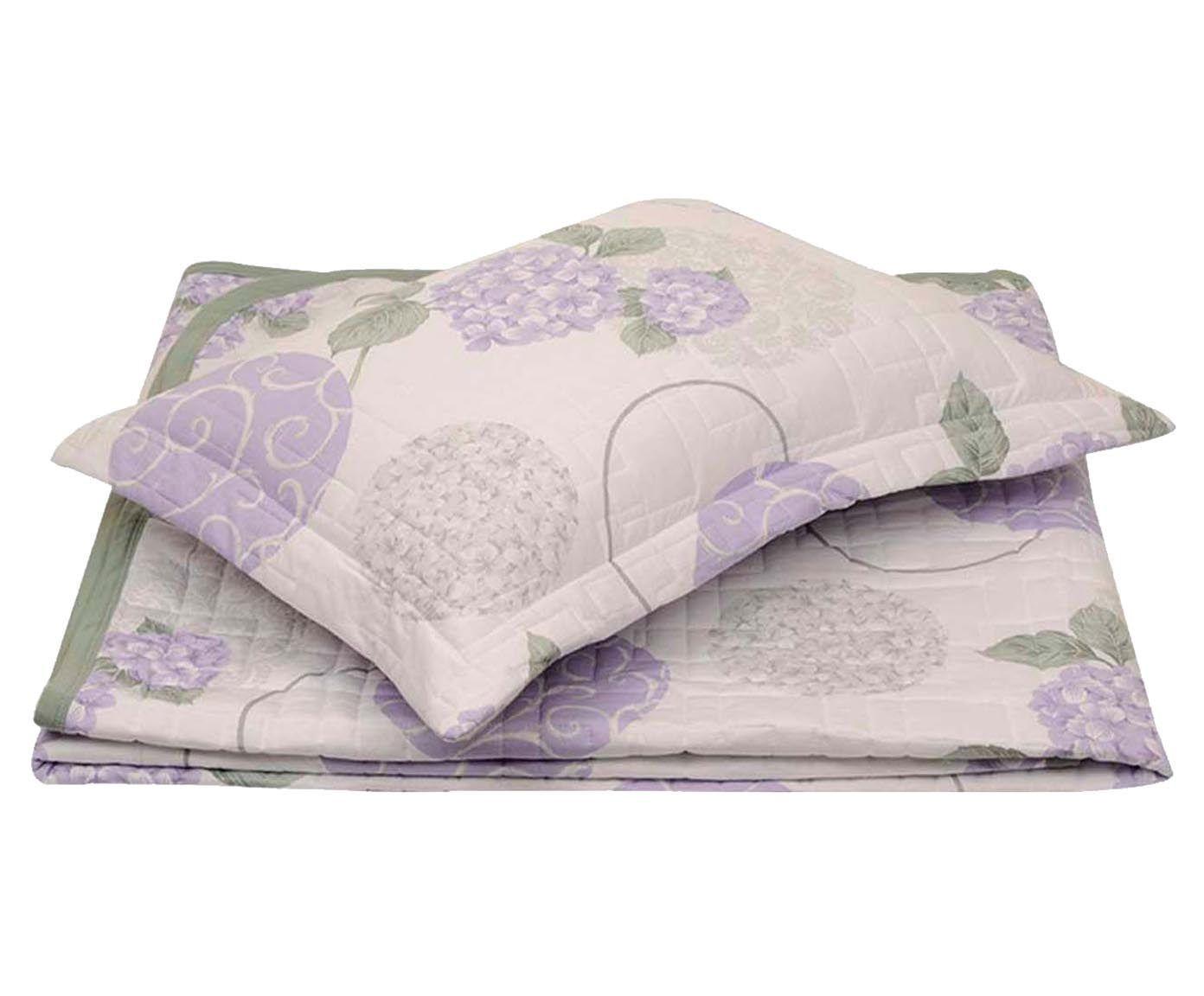 Conjunto de cobre-leito hortência - para cama queen size | Westwing.com.br