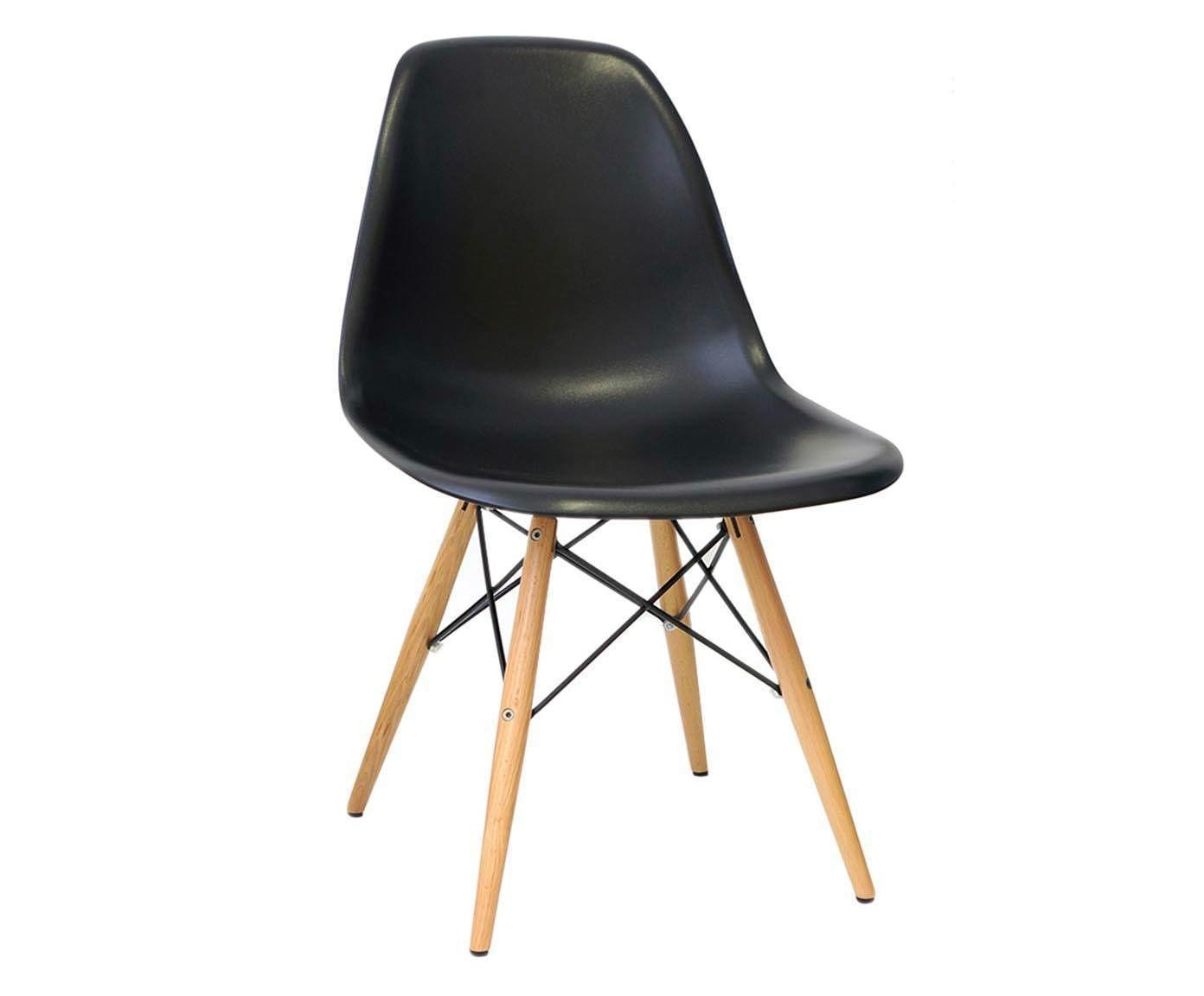 Cadeira Eames Wood Preta - 52X83X46,5cm   Westwing.com.br