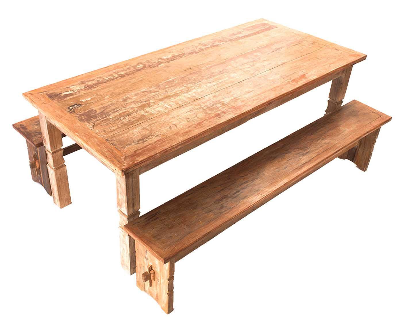 Mesa com bancos telurio - land   Westwing.com.br