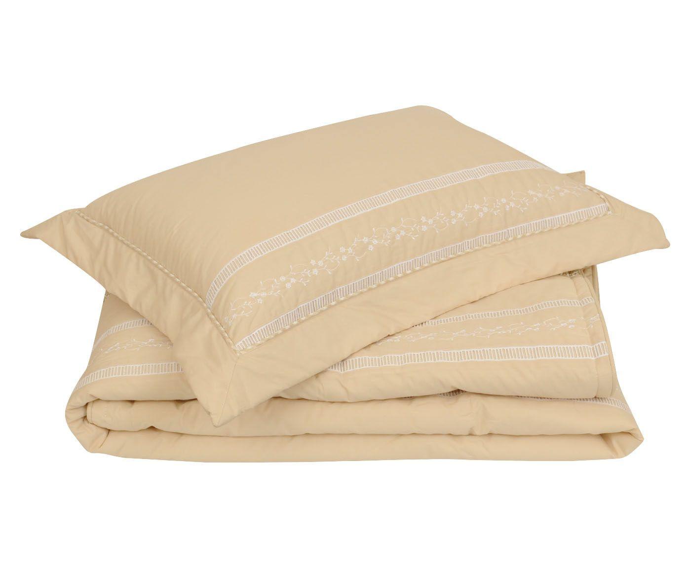 Conjunto de colcha daya para cama queen size 200 fios   Westwing.com.br