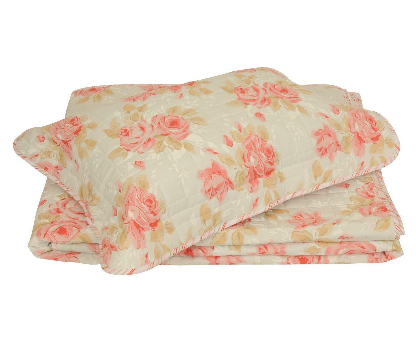 Conjunto de cobre-leito flower para cama king size 150 fios - ritz | Westwing.com.br