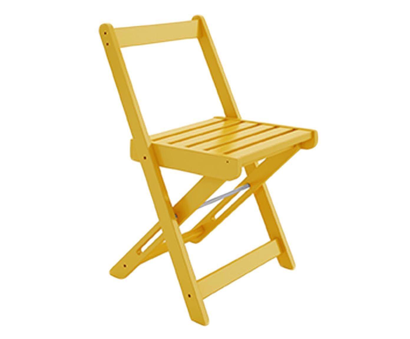 Cadeira Dobrável Pub - Amarela   Westwing.com.br