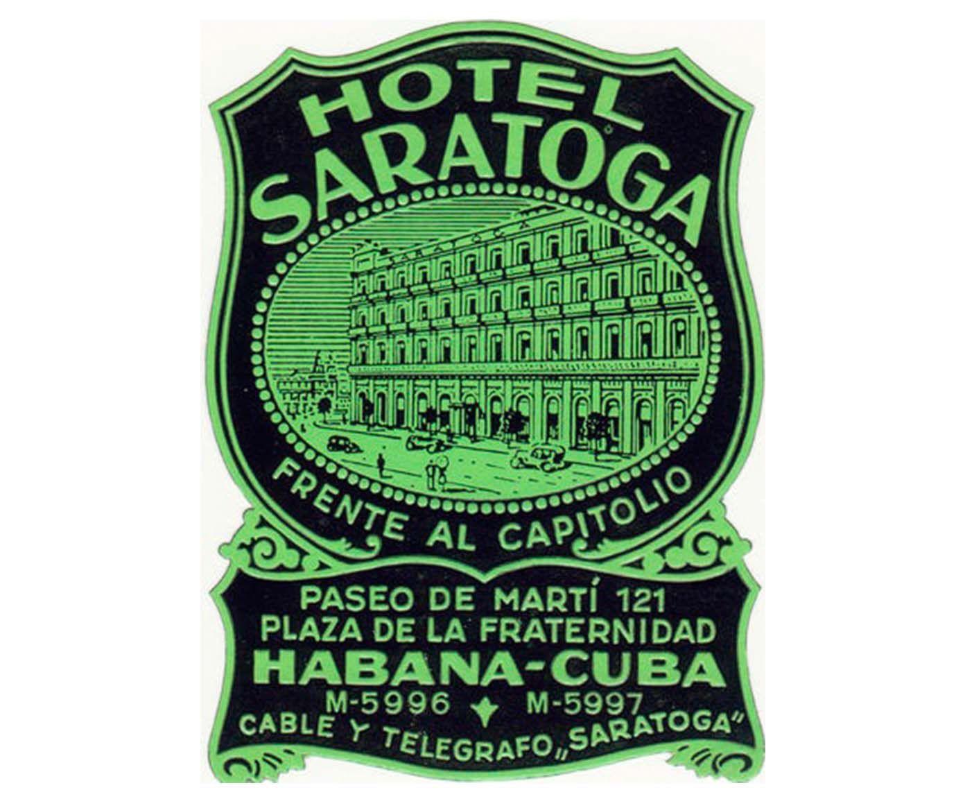 Gravura hotel saratoga | Westwing.com.br