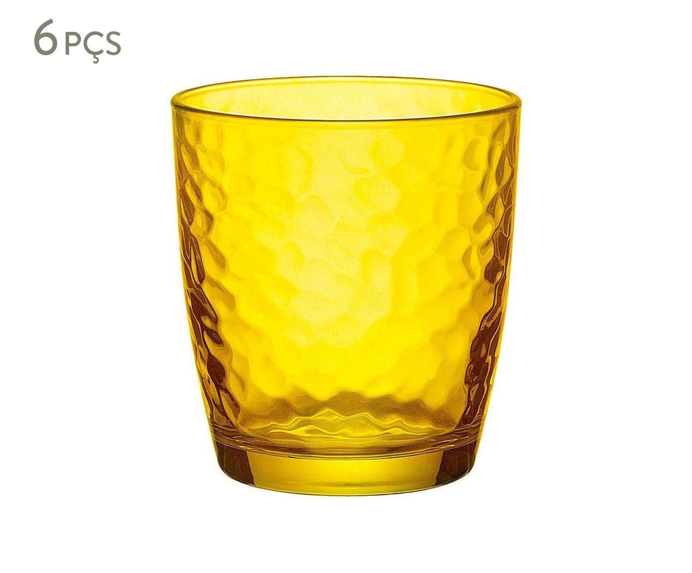 Jogo de Copos para Água Palatina Amarelo - 230ml | Westwing.com.br