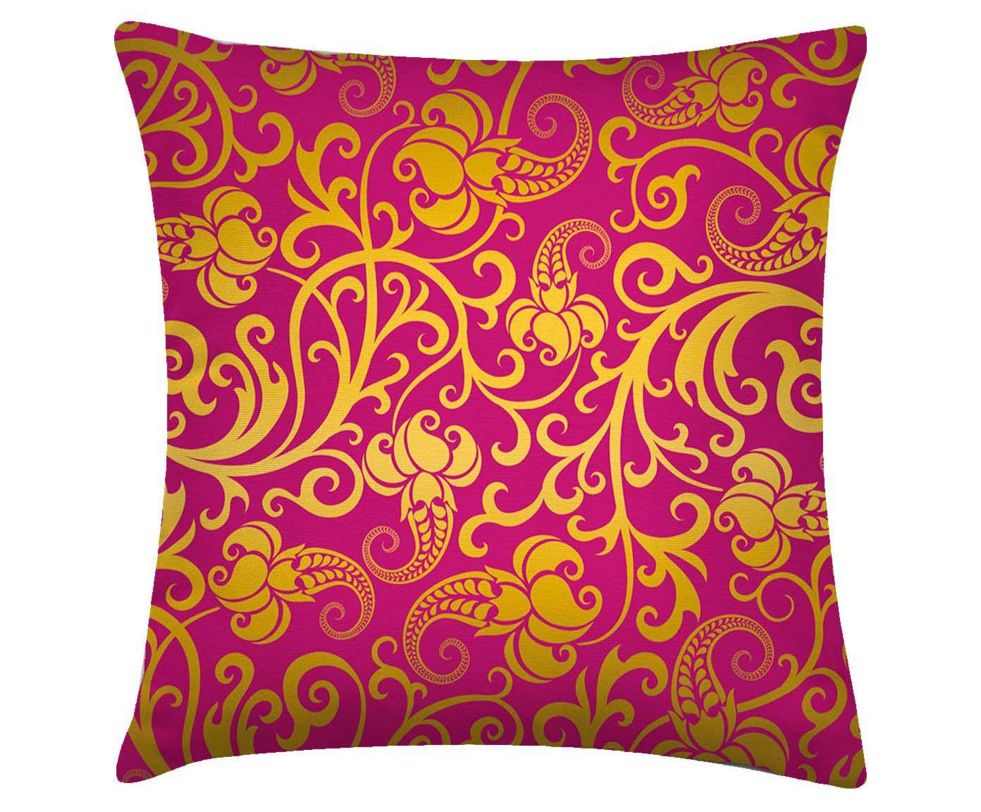 Capa para almofada india golden flowers - 40x40cm | Westwing.com.br