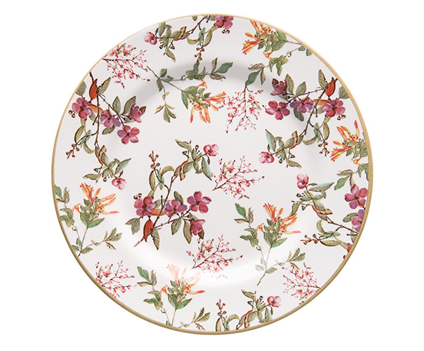 Prato para Sobremesa Aquarelle Olivia - 19,5cm   Westwing.com.br