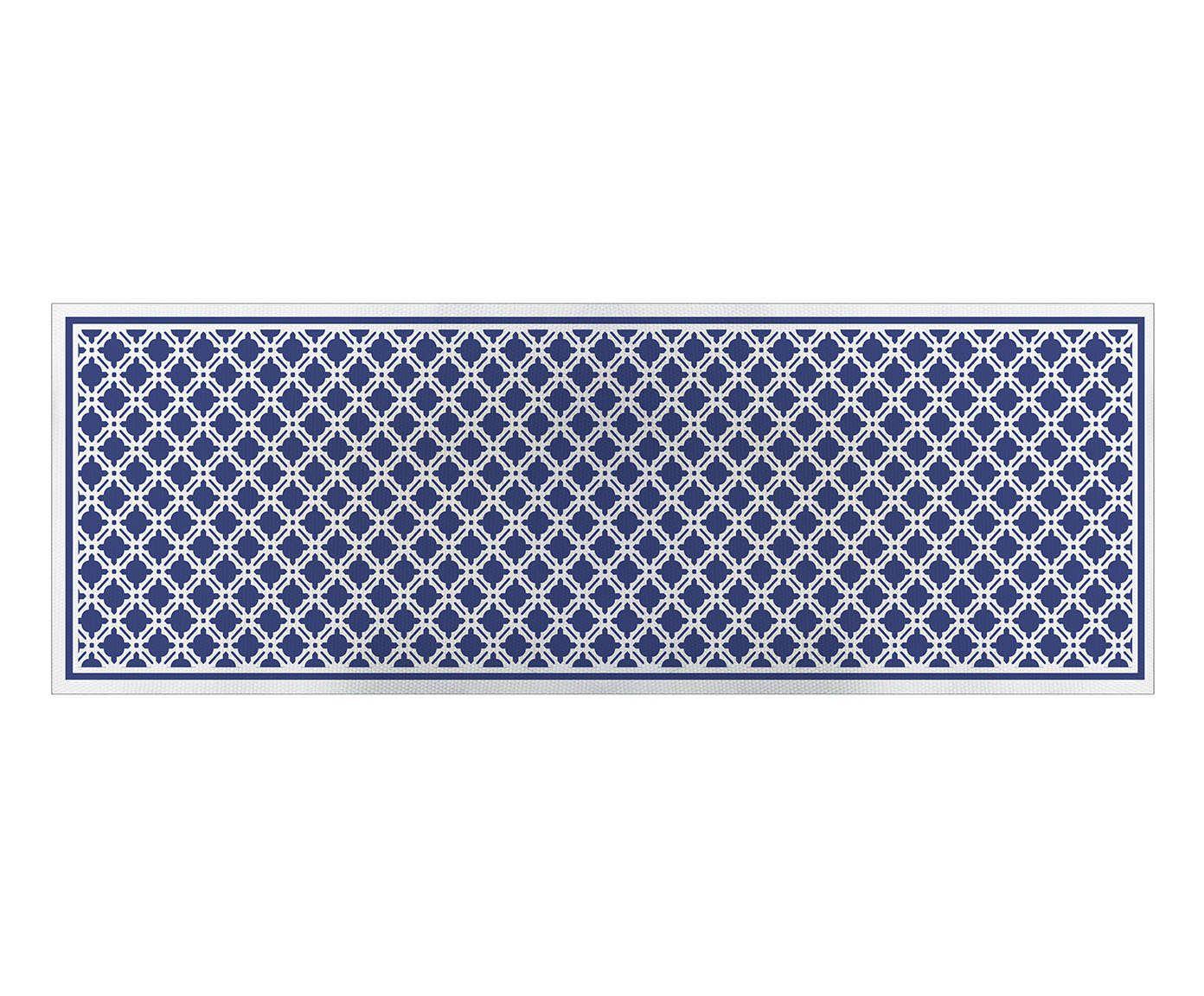 Caminho de Mesa Treliça Azul - 45x140cm   Westwing.com.br