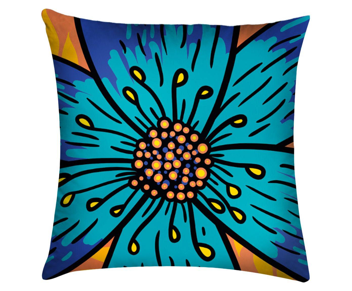 Capa de Almofada Flower Azul - 45x45cm | Westwing.com.br