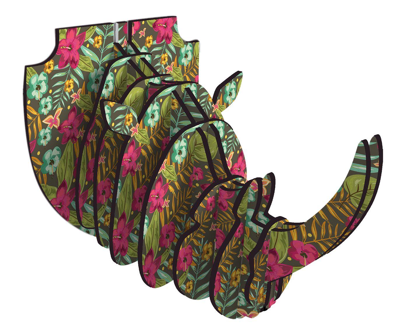 Adorno de Parede Rhino Jade | Westwing.com.br