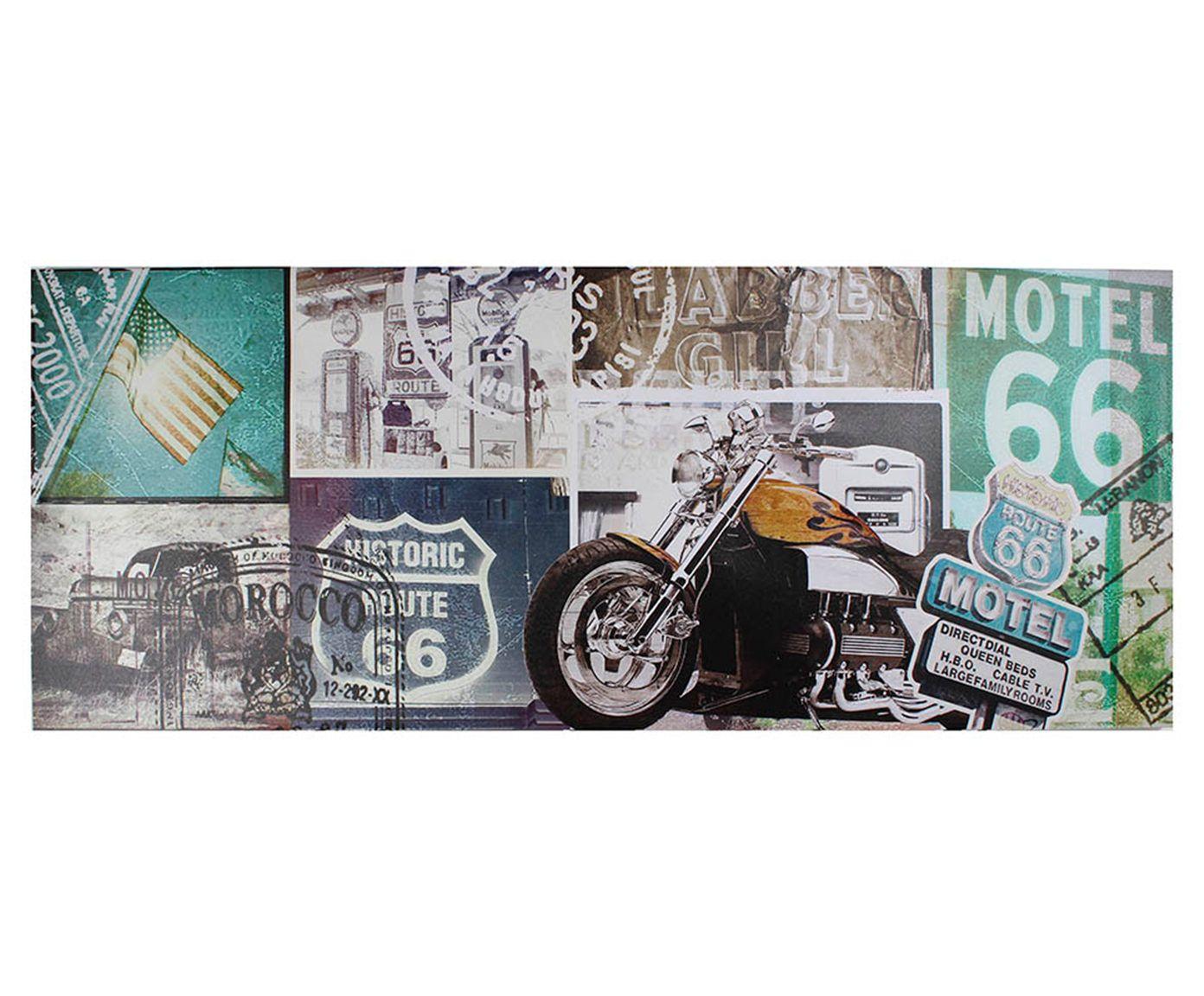 Tela Impressa Motor 66 - 150x60cm   Westwing.com.br