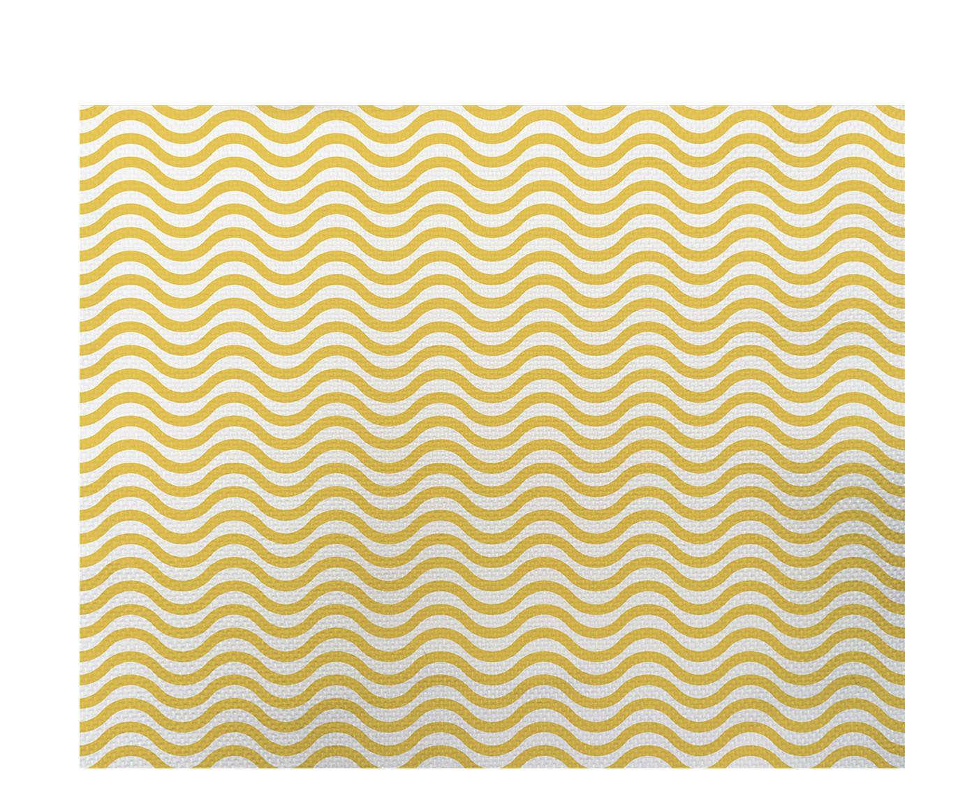 Lugar Americano Ondas Amarelo - 35x45cm   Westwing.com.br