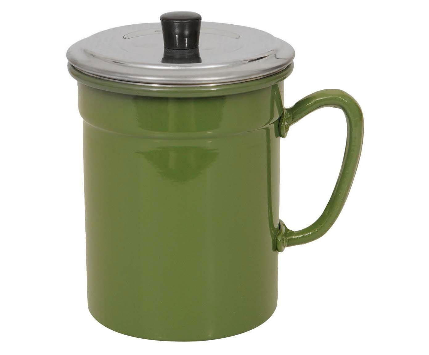 Recipiente para Óleo com Filtro Slim Verde - 1L | Westwing.com.br