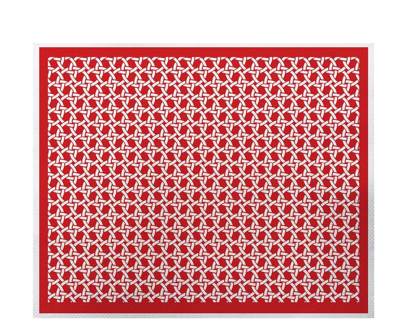 Lugar Americano Palha Vermelho - 35x45cm | Westwing.com.br