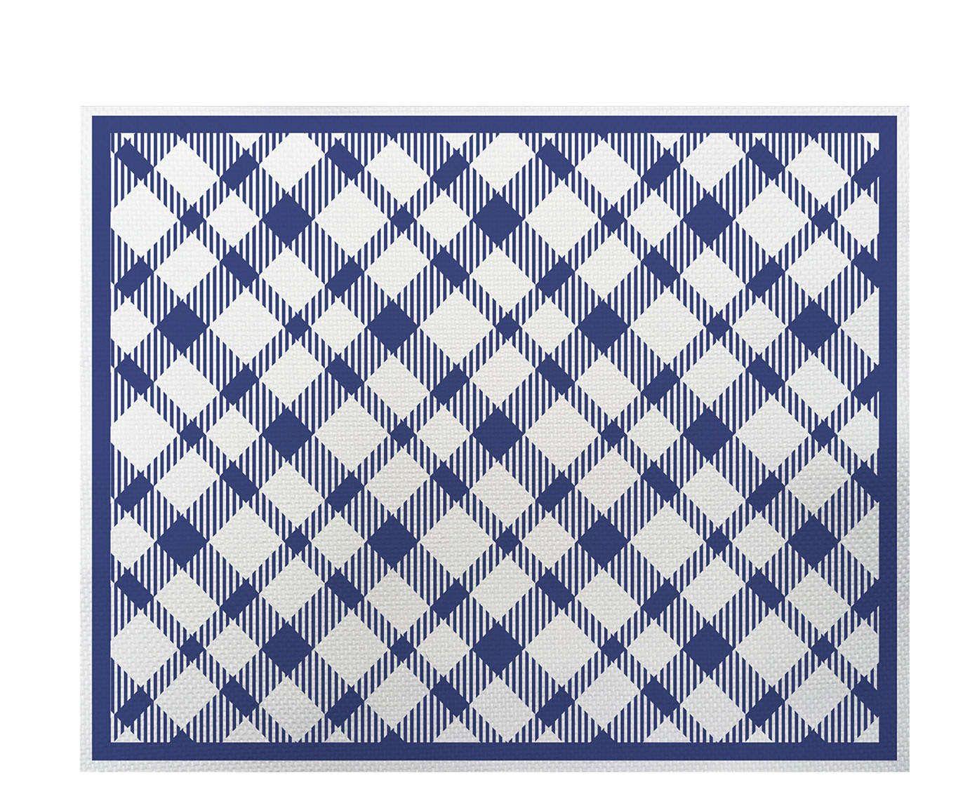 Lugar Americano Picnic Azul - 35x45cm   Westwing.com.br