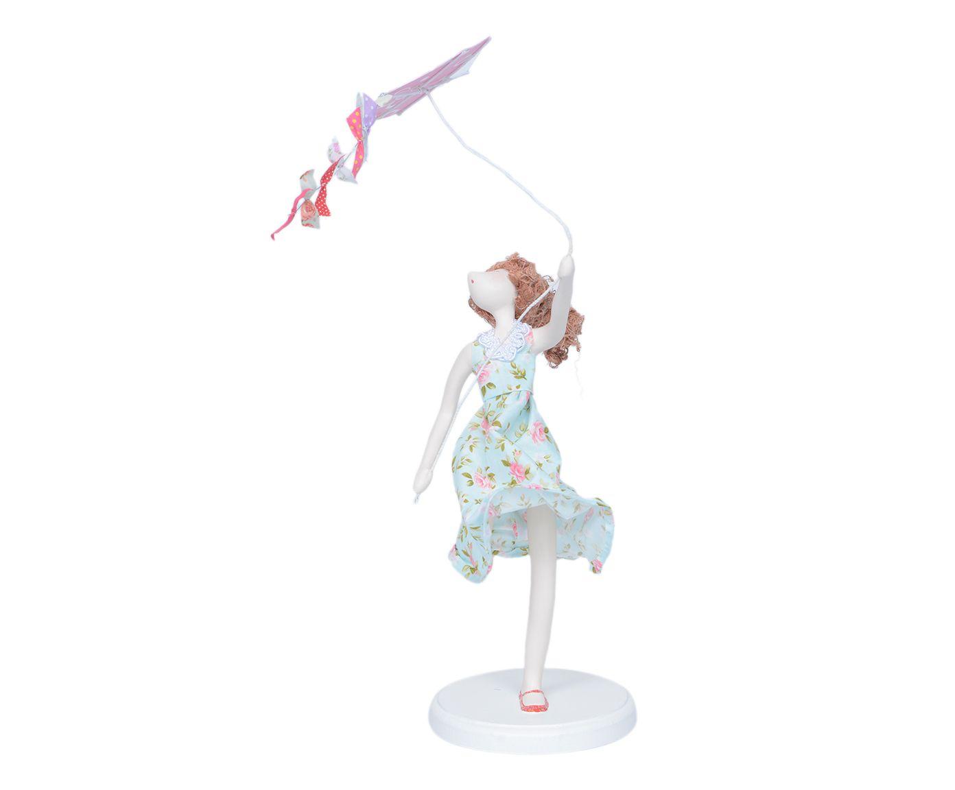 Escultura Menina com Pipa   Westwing.com.br