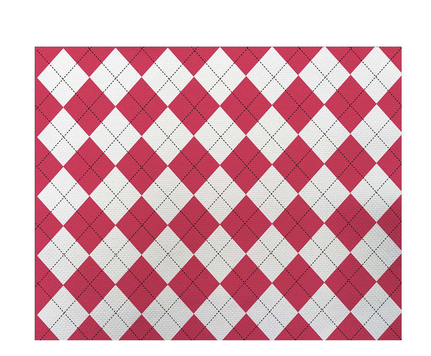 Lugar Americano Xadrez Rosa - 35x45cm   Westwing.com.br